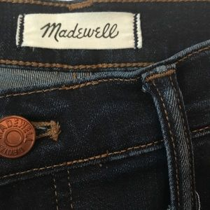 "Madewell Skinny Jeans 32T Larkspur Wash 9"" Rise"